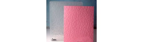 Textured impression embossing