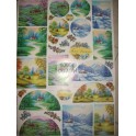carta decoupage- 4 stagioni stamperia