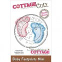 cottage cutz baby footprints CCMINI153